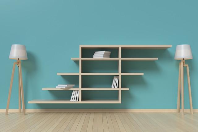 Suspended Bookshelves